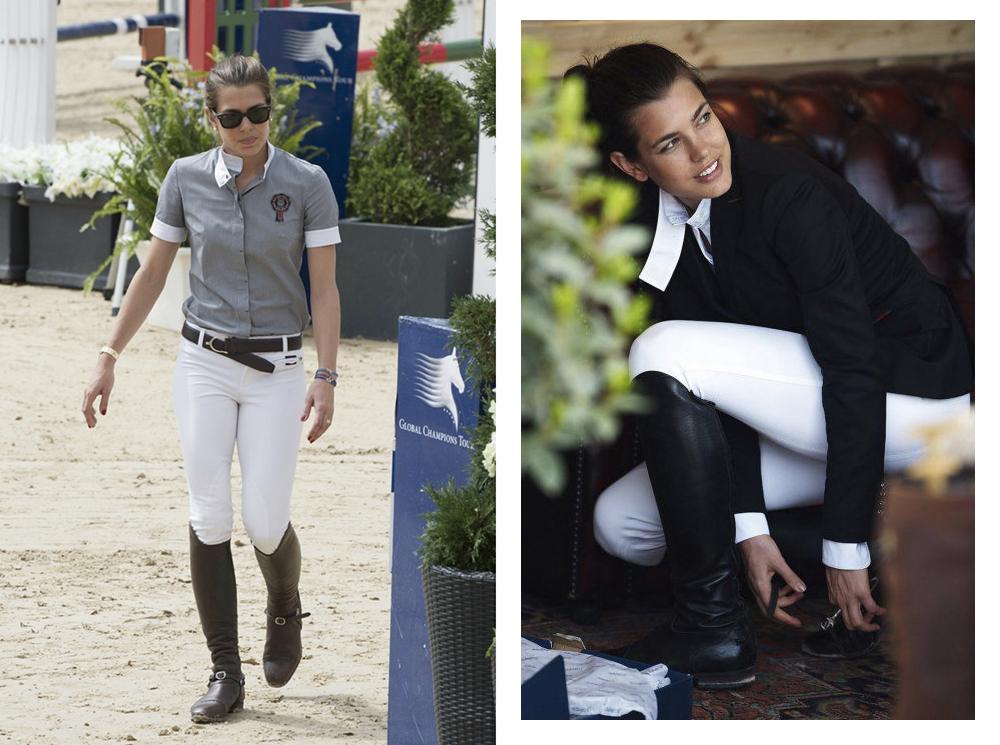 Look Equestre charlotte casiraghi