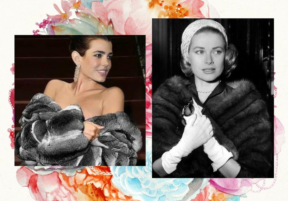 charlotte casiraghi e Grace Kelly pelliccia