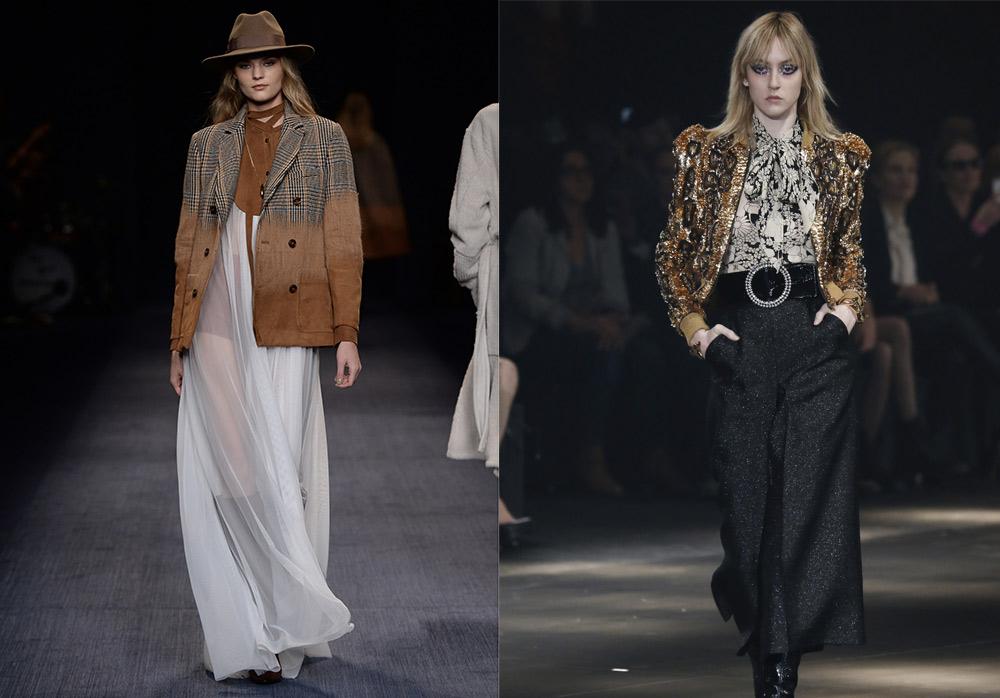 abbigliamento cowgirl Trussardi Saint Laurent