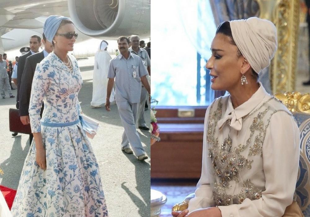 la principessa di doha indossa abiti couture John Galliano