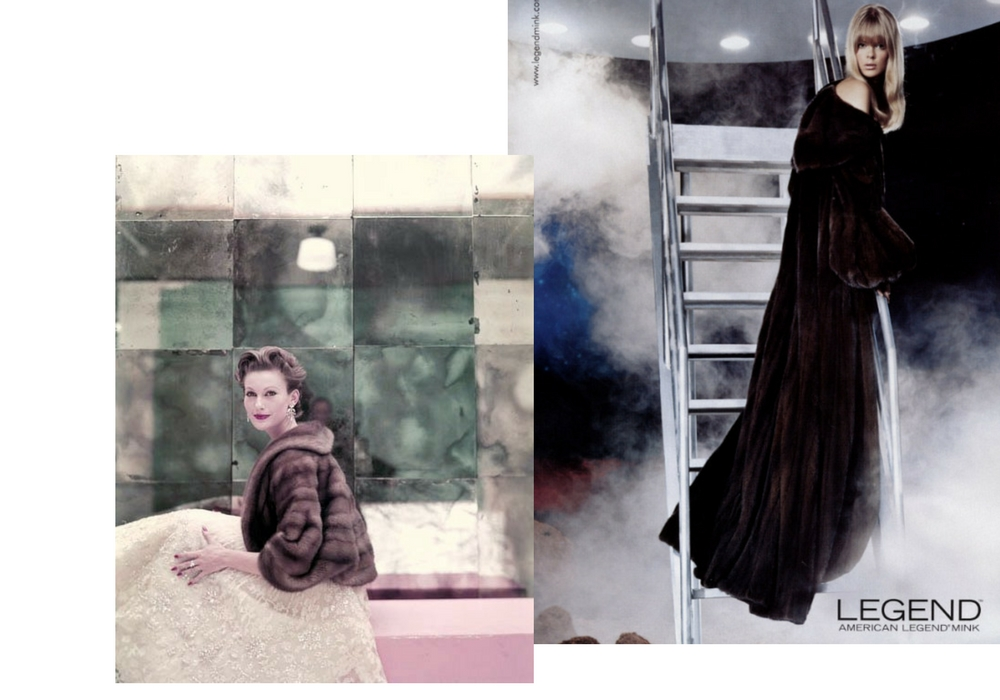 pellicce campagna pubblicitaria blackglama