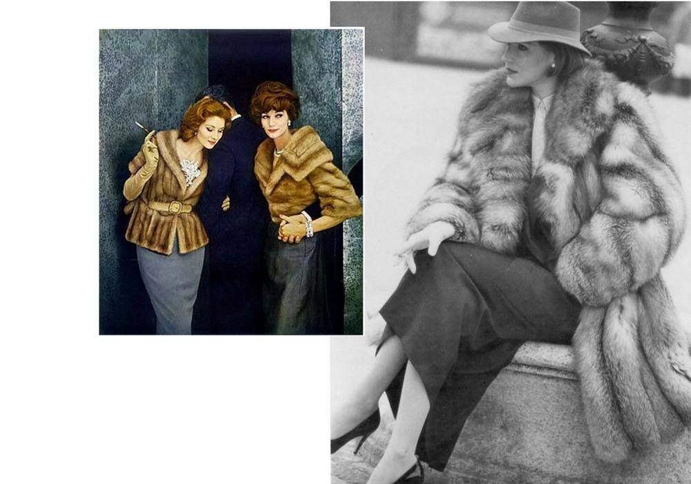 pellicce di visone 1900