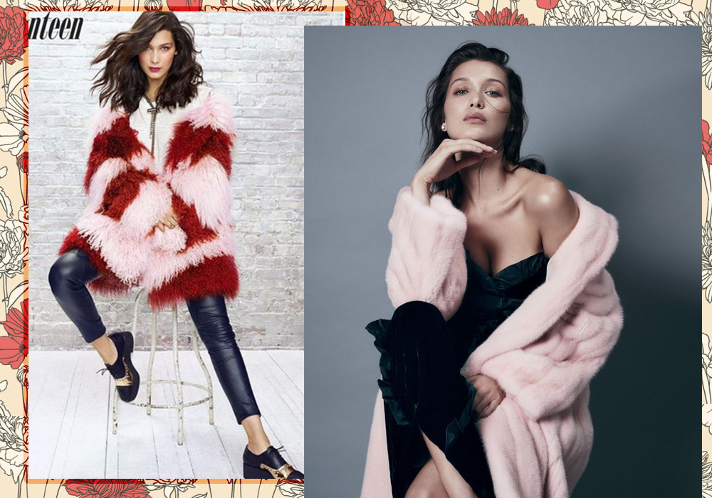 Bella Hadid e le pellicce