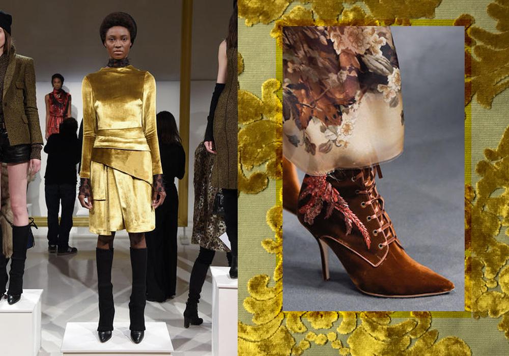 Moda Velluto 2016 dorato e accessori