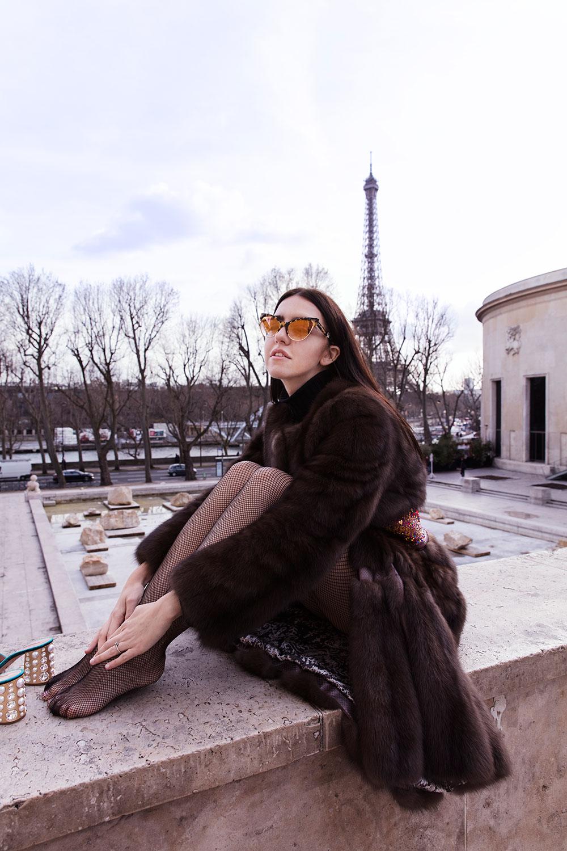 lady fur indossa pelliccia di zibellino giorgio magnani a parigi