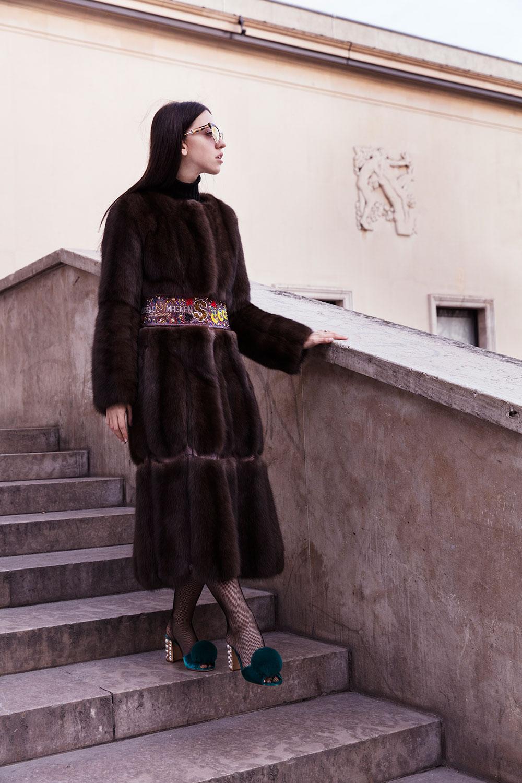 giacca con pelliccia di giorgio magnani