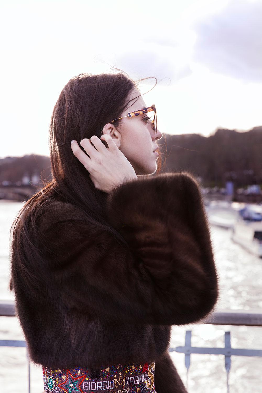 profilo lady fur con dettaglio della pelliccia giorgio magnani