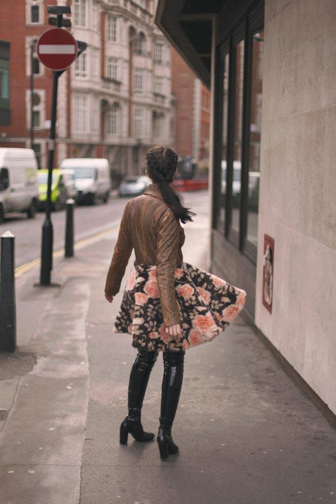 giacca di pitone e pelliccia vladimiro gioia