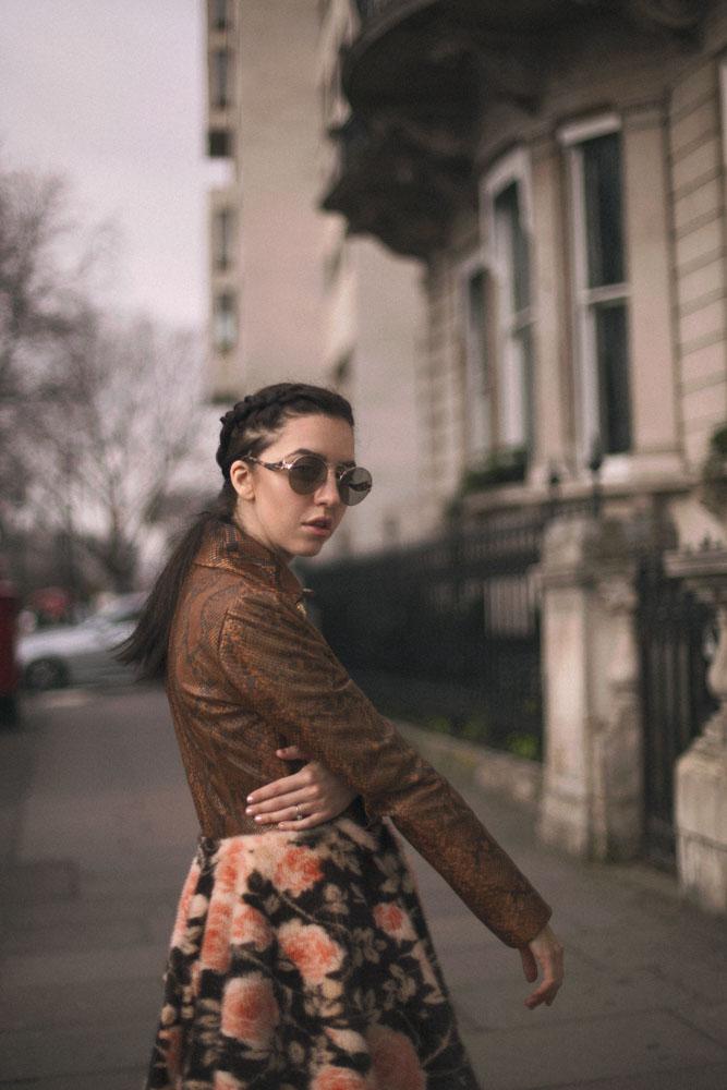 lady fur giacca di pitone