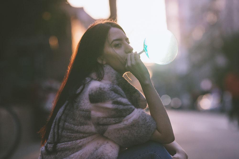 giacca di pelliccia visone