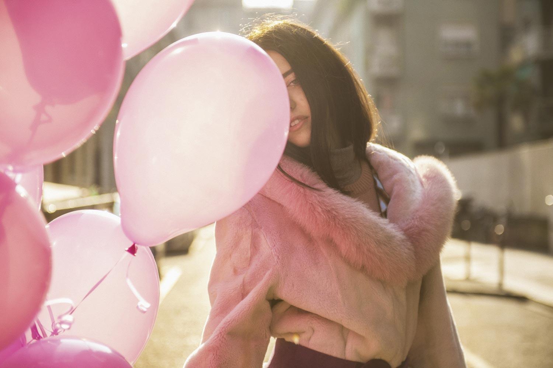 lady fur pelliccia lapin rosa