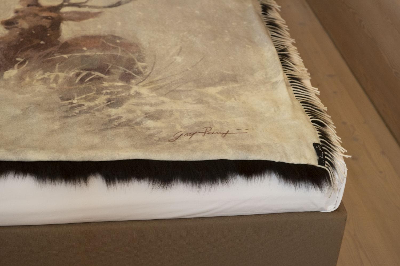 pelliccia di volpe e dettagli in cashmere